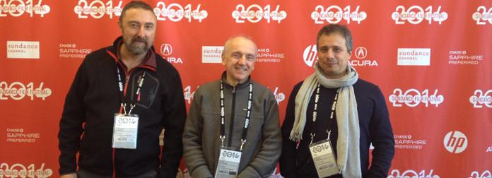 A. Cipriani, L. Ceccarelli, M. Argentieri at Sundance Film Festival